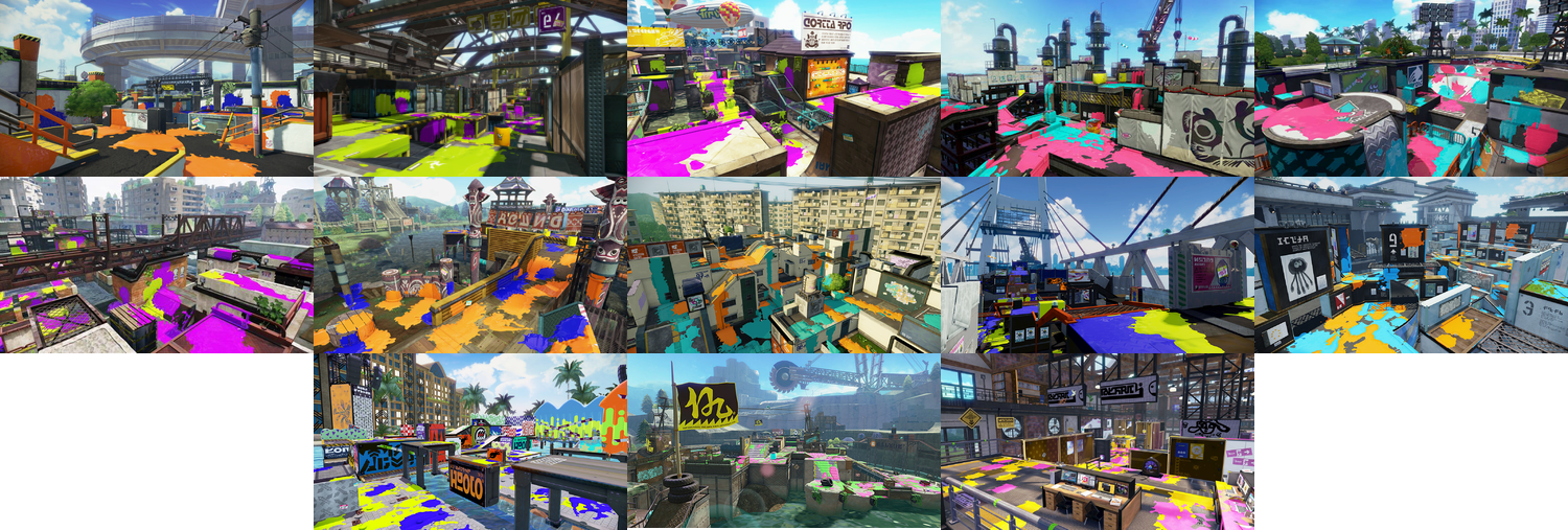Splatoon 1 stage collage.png
